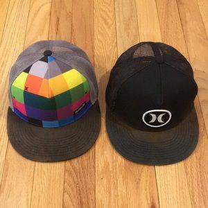 2 Hurley Trucker Hats